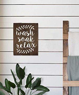 Elegant Signs Wash Soak Relax Wood Sign Bathroom Sign Bathroom Wall Art Bathroom Wood Sign Rustic Bathroom Decor 11 X 14 Inch 0 1 300x360