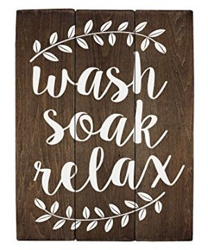 Elegant Signs Wash Soak Relax Wood Sign Bathroom Sign Bathroom Wall Art Bathroom Wood Sign Rustic Bathroom Decor 11 X 14 Inch 0 300x360