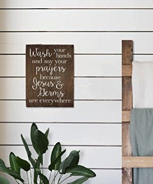 Elegant Signs Wash Your Hands And Say Your Prayers Sign Bathroom Decor Wall Art Kitchen Decor Kitchen Wall Art Bathroom Art 11 X 14 Inch 0 0 300x360