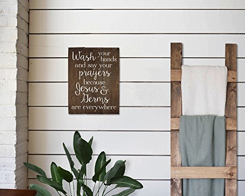 Elegant Signs Wash Your Hands And Say Your Prayers Sign Bathroom Decor Wall Art Kitchen Decor Kitchen Wall Art Bathroom Art 11 X 14 Inch 0 0