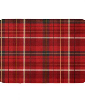 Emvency Bath Mat White Celtic Green Christmas Tartan Plaid Pattern Checkered Red British Check Bathroom Decor Rug 16 X 24 0 300x360