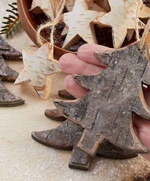 Factory Direct Craft Rustic Birch Tree And Star Hanging Christmas Tree Ornaments 15 Ornaments 0 0 300x360
