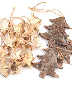 Factory Direct Craft Rustic Birch Tree And Star Hanging Christmas Tree Ornaments 15 Ornaments 0 300x360