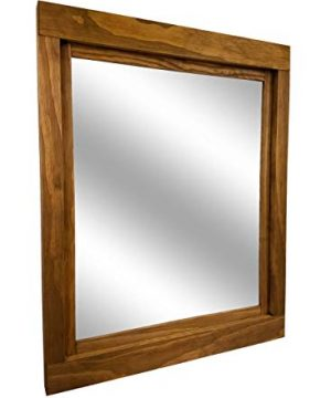 Farmhouse Large Framed Mirror Available In 5 Sizes And 20 Stain Colors Shown In Driftwood Large Wall Mirror Vainty Mirror Bathroom Mirror Rustic Decor Bathroom Vanity Mirror 0 0 300x360