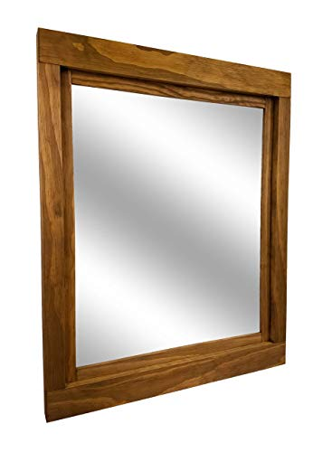 Farmhouse Large Framed Mirror Available In 5 Sizes And 20 Stain Colors Shown In Driftwood Large Wall Mirror Vainty Mirror Bathroom Mirror Rustic Decor Bathroom Vanity Mirror 0 0