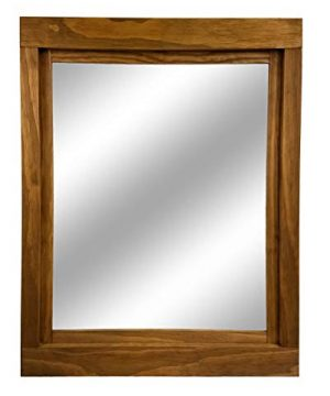 Farmhouse Large Framed Mirror Available In 5 Sizes And 20 Stain Colors Shown In Driftwood Large Wall Mirror Vainty Mirror Bathroom Mirror Rustic Decor Bathroom Vanity Mirror 0 1 300x360