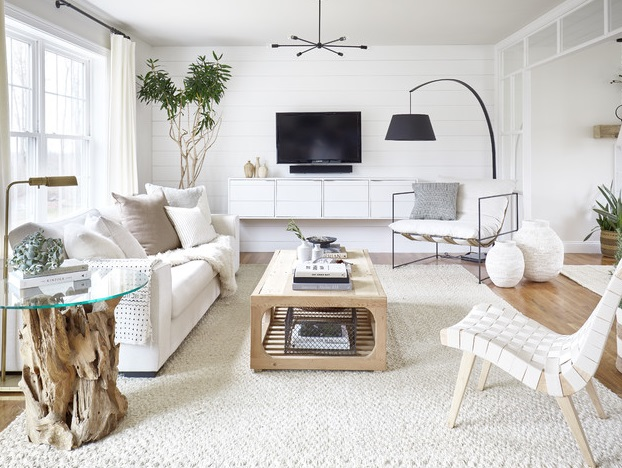 Farmhouse Living Room by Moore House Design