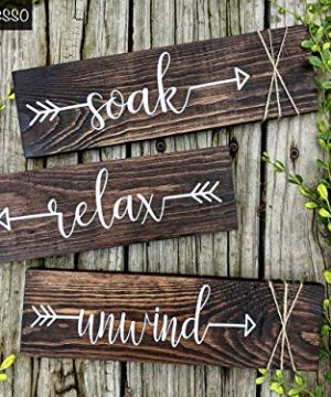 Farmhouse-Rustic-Bathroom-Decor-Soak-Relax-Unwind-Signs-Set-of-Three-Wooden-Wall-Hangings-0-1