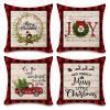 Faromily Buffalo Plaid Christmas Pillow Covers Farmhouse Decorative Cotton Linen Throw Pillow Cases 18 X 18 Inch Set Of 4 Christmas Decoration 0 100x100