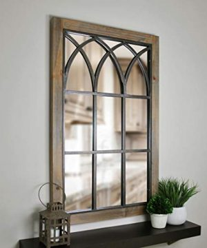FirsTime Co 70015 Grandview Arched Window Mirror 375 H X 24 W Weathered Brown 0 300x360