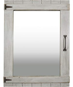 FirsTime Co 70023 Weathered Barn Accent Wall Mirror 32 X 24 Rustic Gray 0 0 300x360