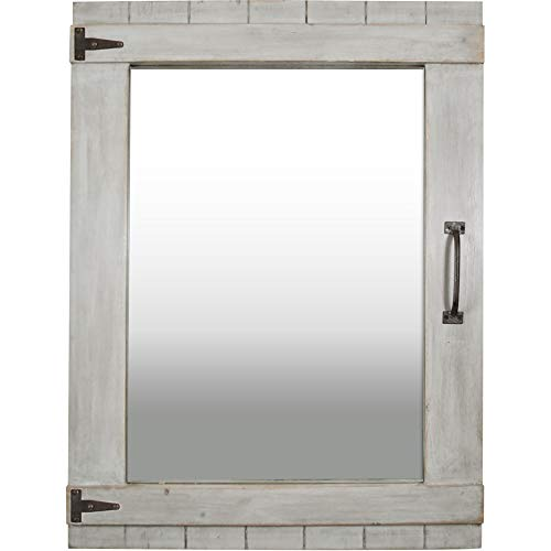 FirsTime Co 70023 Weathered Barn Accent Wall Mirror 32 X 24 Rustic Gray 0 0