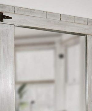 FirsTime Co 70023 Weathered Barn Accent Wall Mirror 32 X 24 Rustic Gray 0 1 300x360