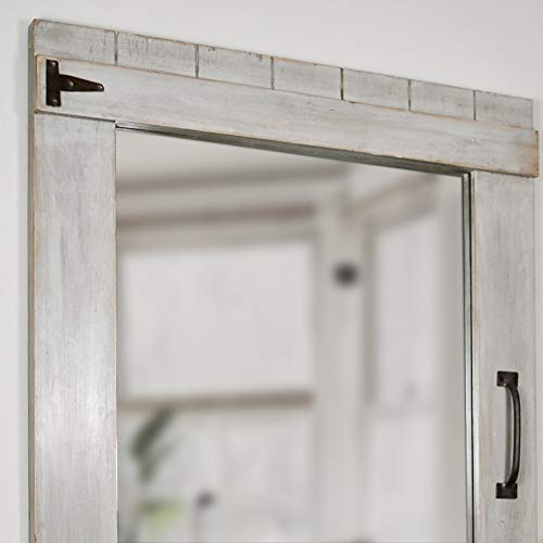 FirsTime Co 70023 Weathered Barn Accent Wall Mirror 32 X 24 Rustic Gray 0 1