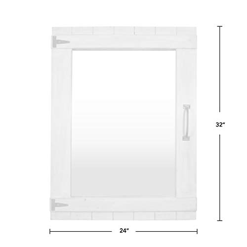 FirsTime Co 70023 Weathered Barn Accent Wall Mirror 32 X 24 Rustic Gray 0 2