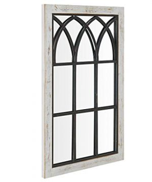 FirsTime Co 70024 Vista Arched Window Accent Wall Mirror 375 X 24 Distressed White 0 1 300x360