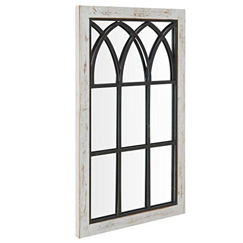 FirsTime Co 70024 Vista Arched Window Accent Wall Mirror 375 X 24 Distressed White 0 1