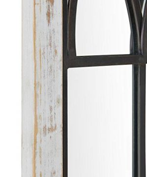 FirsTime Co 70024 Vista Arched Window Accent Wall Mirror 375 X 24 Distressed White 0 2 300x360