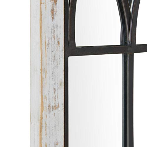 FirsTime Co 70024 Vista Arched Window Accent Wall Mirror 375 X 24 Distressed White 0 2