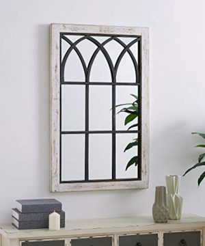 FirsTime Co 70024 Vista Arched Window Accent Wall Mirror 375 X 24 Distressed White 0 300x360
