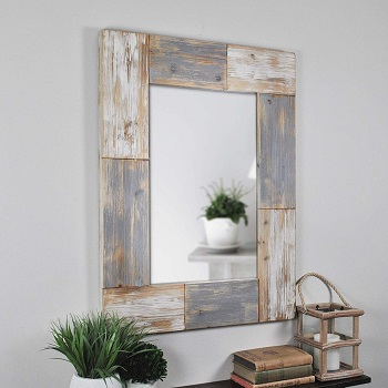 FirsTime & Co. 70001 Mason Planks Wall Mirror