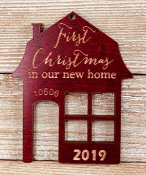 First Christmas In Our New Home 2019 Ornament Or Any Year From Solid Wood 0 0 300x360