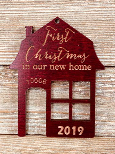 First Christmas In Our New Home 2019 Ornament Or Any Year From Solid Wood 0 0