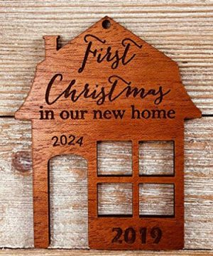First Christmas In Our New Home 2019 Ornament Or Any Year From Solid Wood 0 1 300x360