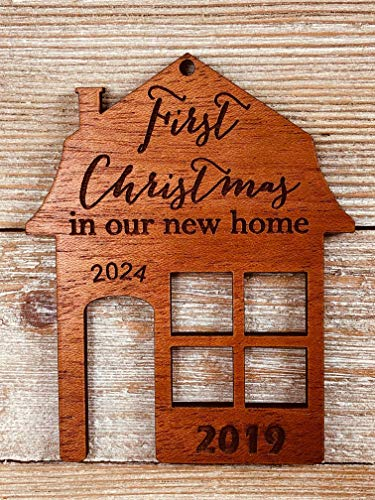 First Christmas In Our New Home 2019 Ornament Or Any Year From Solid Wood 0 1