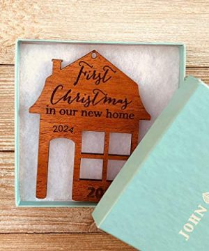 First Christmas In Our New Home 2019 Ornament Or Any Year From Solid Wood 0 2 300x360