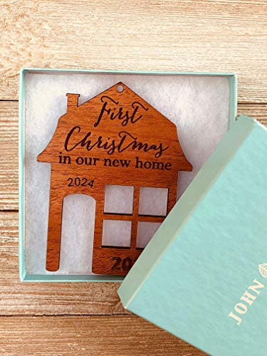 First Christmas In Our New Home 2019 Ornament Or Any Year From Solid Wood 0 2