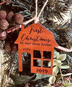 First Christmas In Our New Home 2019 Ornament Or Any Year From Solid Wood 0 3 300x360