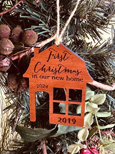 First Christmas In Our New Home 2019 Ornament Or Any Year From Solid Wood 0 3