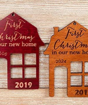 First Christmas In Our New Home 2019 Ornament Or Any Year From Solid Wood 0 300x360
