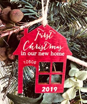 First Christmas In Our New Home 2019 Ornament Or Any Year From Solid Wood 0 4 300x360