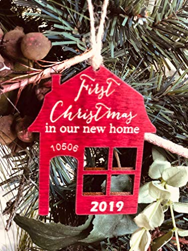First Christmas In Our New Home 2019 Ornament Or Any Year From Solid Wood 0 4