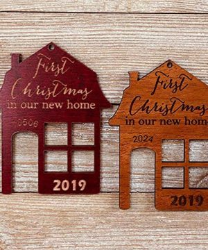 First Christmas In Our New Home 2019 Ornament Or Any Year From Solid Wood 0 5 300x360