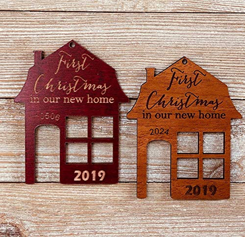 First Christmas In Our New Home 2019 Ornament Or Any Year From Solid Wood 0 5