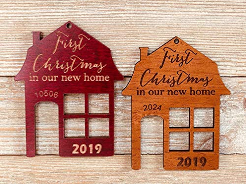 First Christmas In Our New Home 2019 Ornament Or Any Year From Solid Wood 0