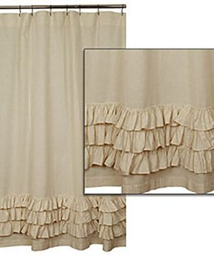 Flax Ruffled Shower Curtain By The Country House Collection 72 X 72 0 300x360