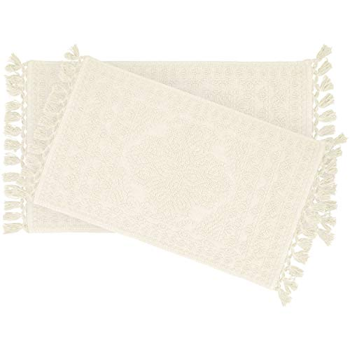 French Connection Bath Rugs 17 In X 24 In20 In X 34 In Ivory 0