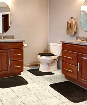 Garland Rug BA010W4P15J5 Traditional Bath Rug Set 4 Piece Chocolate 0 300x360