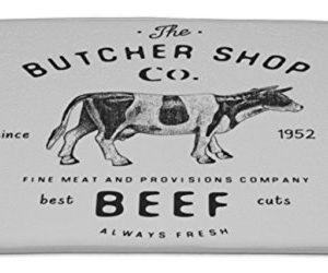 Gear New Bath Rug Mat No Slip Microfiber Memory Foam Butcher Shop Vintage Emblem Beef Meat Products Butchery Logo Template Retro 34x21 0 300x250