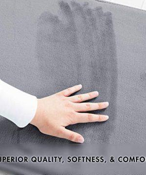Genteele Memory Foam Bath Mat Non Slip Absorbent Super Cozy Velvet Bathroom Rug Carpet 17 Inches X 24 Inches Gray 0 1 300x360