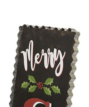 Glitzhome 3563 H Rustic Wooden Sign Black Merry Christmas Vertical Porch Sign Standing Hanging Holiday Party Signs Wall Door Decorations 0 1 300x360