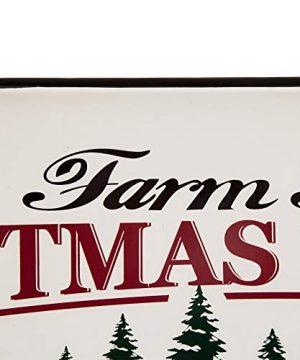 Glitzhome Metal Enamel Wall Signs Farmhouse Style Christmas Tree Home Decor 4311 H 0 2 300x360