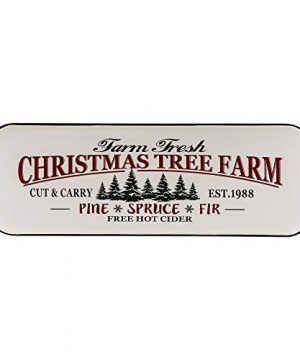 Glitzhome Metal Enamel Wall Signs Farmhouse Style Christmas Tree Home Decor 4311 H 0 300x360