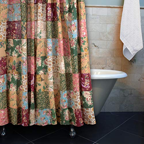 Greenland Home Antique Chic Patchwork Shower Curtain 0 0