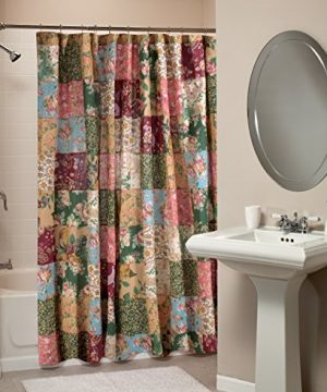Greenland Home Antique Chic Patchwork Shower Curtain 0 300x360