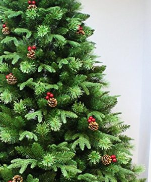 HOLIDAY STUFF Realistic 6 Foot True Nature Beauty Decorated Christmas Tree Hinged Construction 6ft Unlit 0 0 300x360
